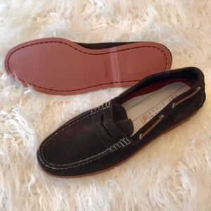 SPERRY BROWN SUEDE SHOES